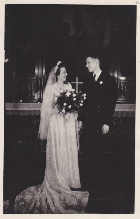 Clifford and Florence Hanson Wedding - May 25, 1944