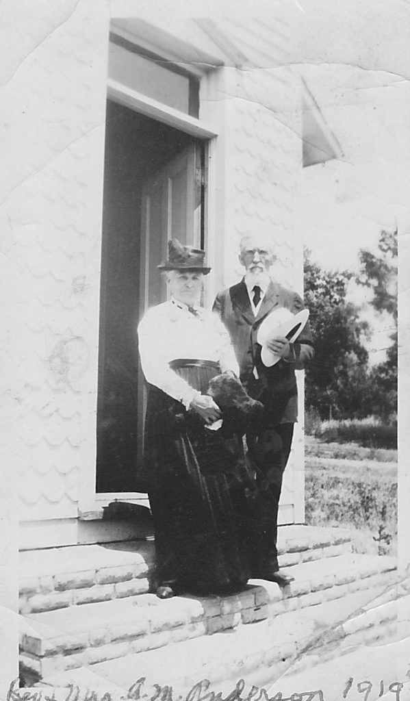 Rev and Mrs A.M. Andersen 1919